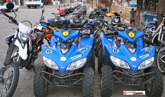 ATV quads motorcycles and scooters in cappadocia turkey