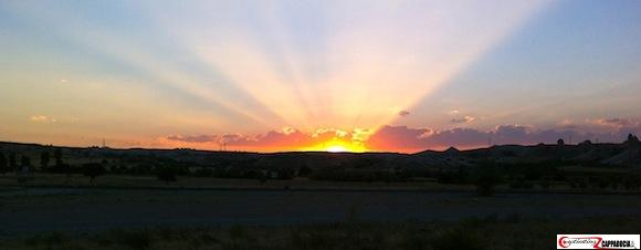 Cappadocia weather sunset