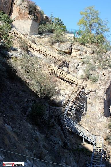 Cappadocia Green Tour Ihlara Valley staircase