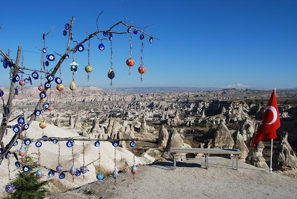 Cappadocia Goreme evil eye tree  Erciyes