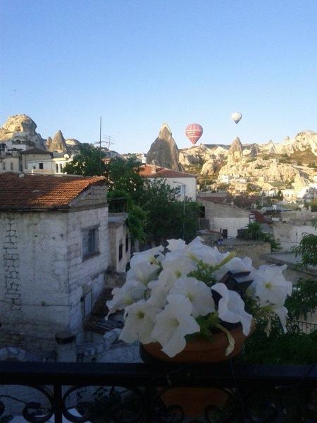 Cappadocia village balloons