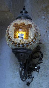 Castle Inn Ortahisar branded lamp