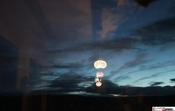 Cappadocia lamp window nightfall
