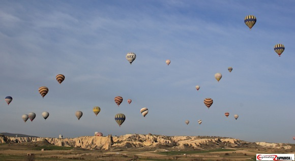 Love Valley Cappadocia hot air balloons