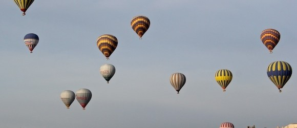 Cappadocia Photo of the Week September 17: Hot Air Balloons IN LOVE Valley