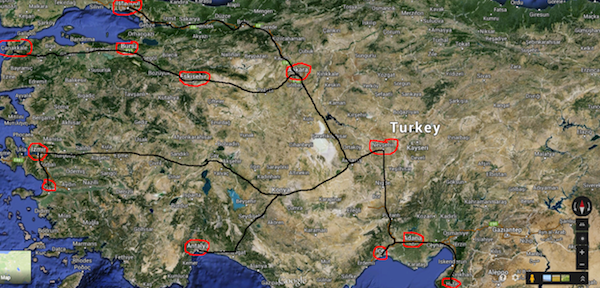 Kamil Koc bus routes from Cappadocia