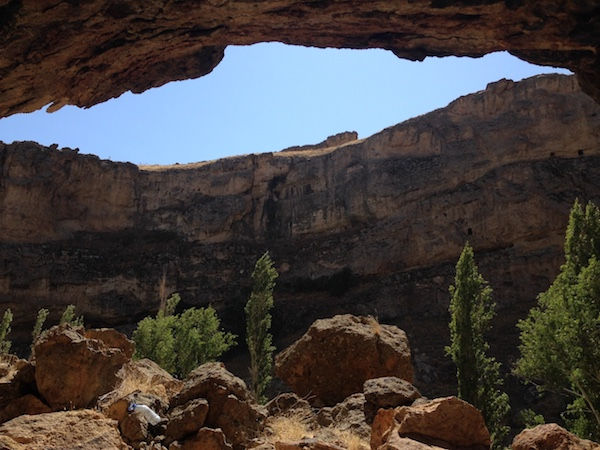 Erdemli canyon hiking blue sky