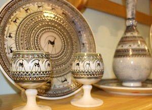 Noyans Unique Cappadocia Ceramic Art plate cup