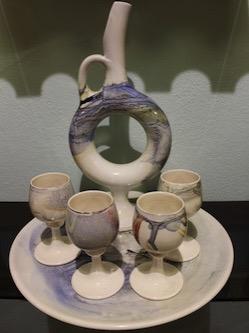 Noyans Unique Cappadocia Ceramic Art wine jug